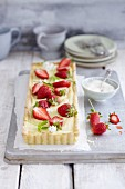 Woodruff tart with strawberries