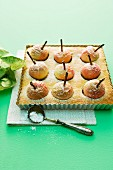 Baked apple cakes