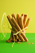 Crispy cinnamon wafer sticks