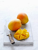 Kensington Pride mangos, whole and sliced