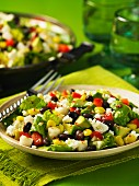 Mexican vegetable salad with sheep's cheese