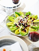 Cos lettuce with grapes and walnuts for Thanksgiving