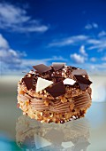 Paris Brest with chocolate cream and hazelnuts
