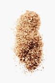 A pile of brown vanilla sugar, close-up