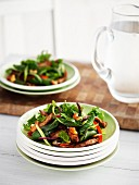 Warm chicken salad with cashew nuts