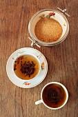 Black tea and brown sugar