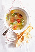 Ice tomato consomme