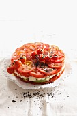 Tomato tart with avocado and Gorgonzola