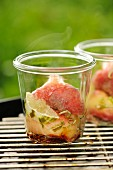 Vineyard peaches with limes and honey