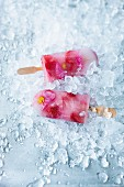 Floral ice lollies