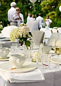 A table laid for a summer garden party
