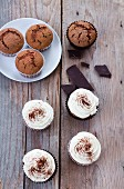 Chocolate cupcakes and muffins
