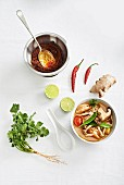 Tom Yum paste and Tom Yum soup
