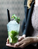 Mojito (cocktail made from rum, mint, lime juice and sugar)