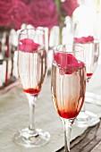 Rose petal champagne