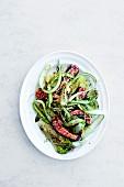 Cucumber salad with tuna