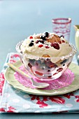 Berry and mascarpone trifle