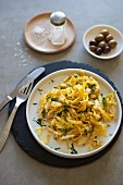 Bacalhau a bras (scrambled eggs with cod and potatoes, Portugal)