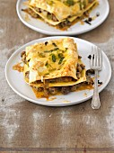 Lasagne with pork ragout