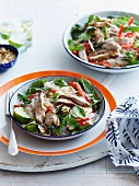 Chicken salad with noodles, chilli and lime (Thailand)