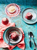 Beetroot mousse with grated coconut