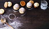 Apple whoopie pies with vanilla cream