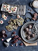 Chocolate confectionery and pralines