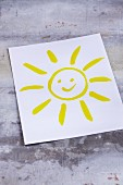 A picture on a sun on a piece of paper