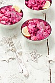 Herring salad with beetroot