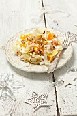 Chicory salad with oranges and walnuts