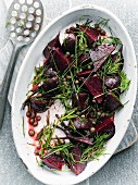 Beetroot salad with capers and dill