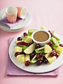 Mocha dip with fruit