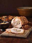 Stuffed rolled pork roast