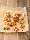 Florentines on a piece of baking paper