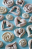 Meringue hearts for Valentine's Day