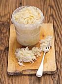 Sauerkraut in a plastic cup