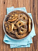 Pretzels with poppy seeds