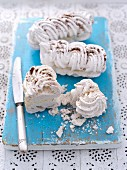 Meringue with coffee cream