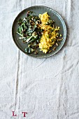 An oriental chard medley with sultanas and pine nuts