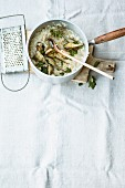 Artichoke risotto with parsley