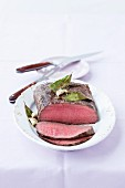 Roast beef cut in thin slices