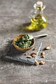 Rocket and lemon pesto with pine nuts and walnuts