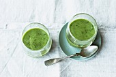 Green kale smoothies