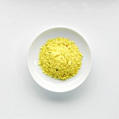 A plate of organic chicken stock powder