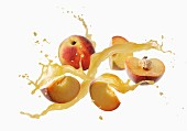 Peaches with a splash of juice