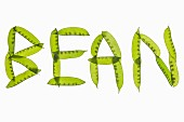 A word spelt out in green beans