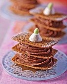 Millefeuille with chocolate cream