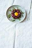 Vegetarian beetroot tartar