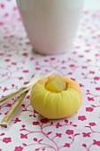 Wagashi camellia (Japanese sweet)