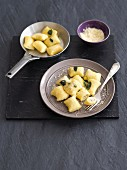 Gnocchi with goat's cheese and truffles